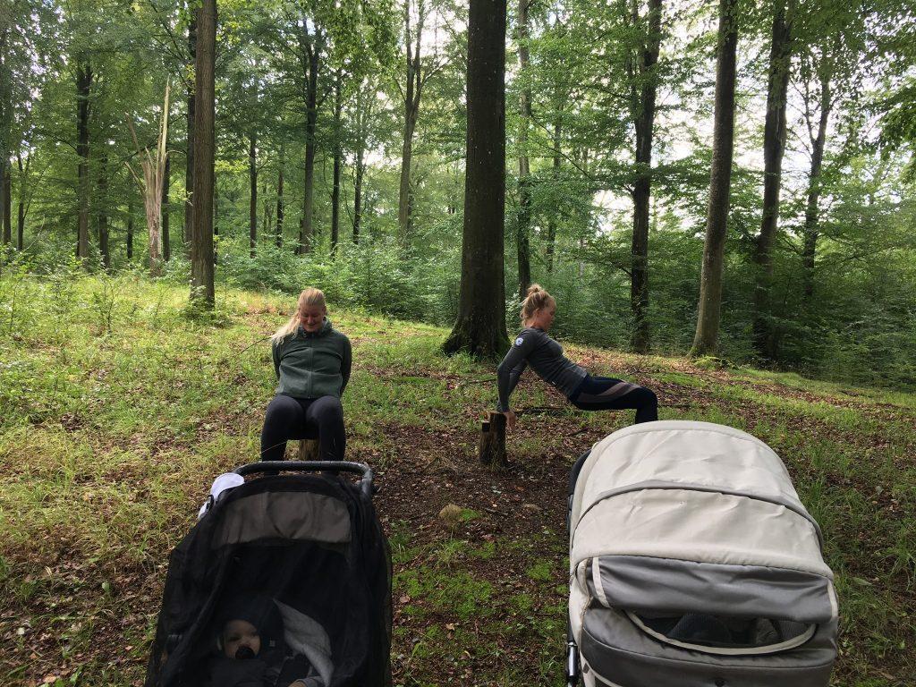 Barnevognstræning-i-Gribskov-skovens-træningsudstyr