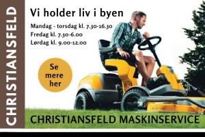Christiansfeld Maskinservice banner city kolding