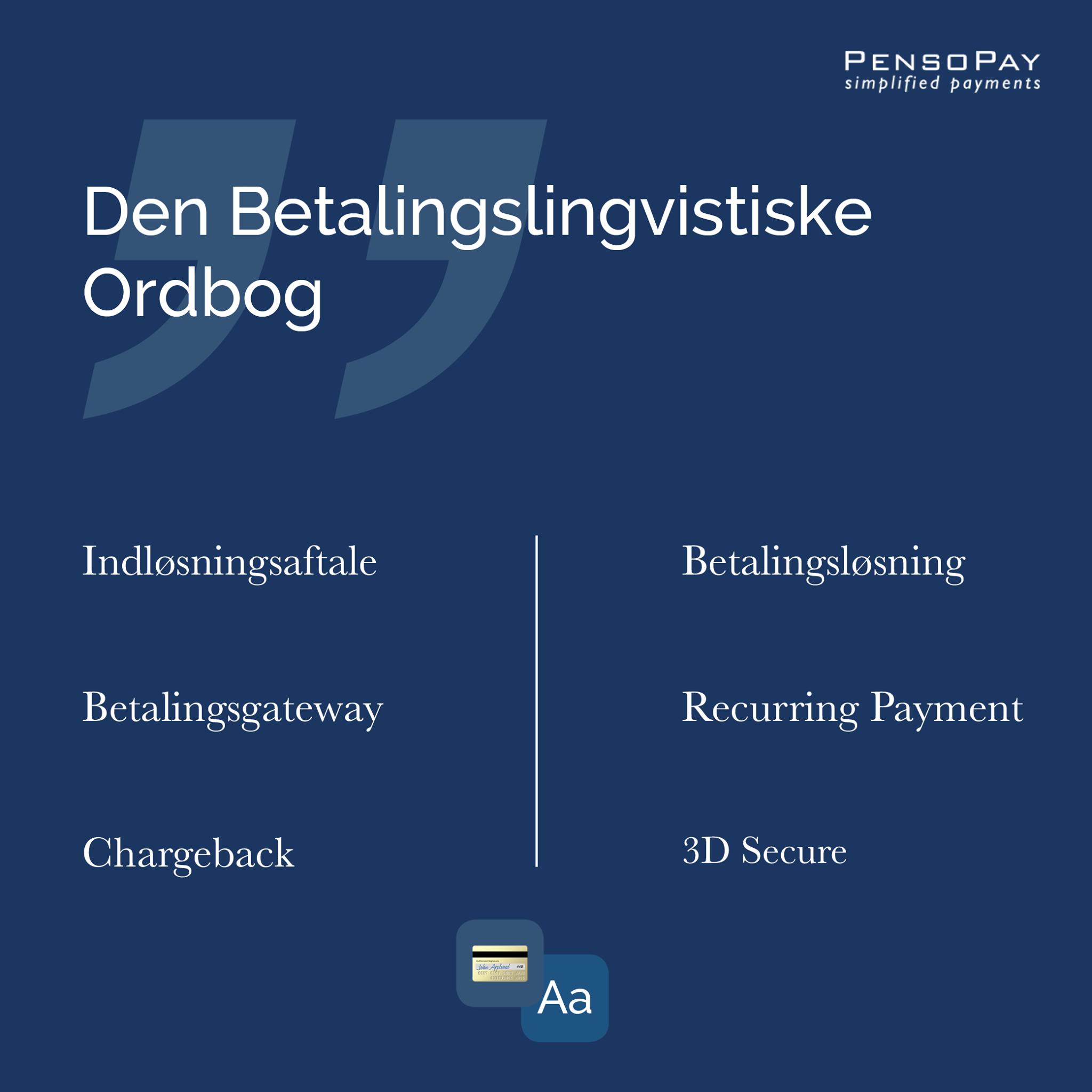 Pensopay-Den Betalingslingvistiske ordbog