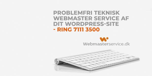 webmasterservice.dk - hjælp til din wordpress side