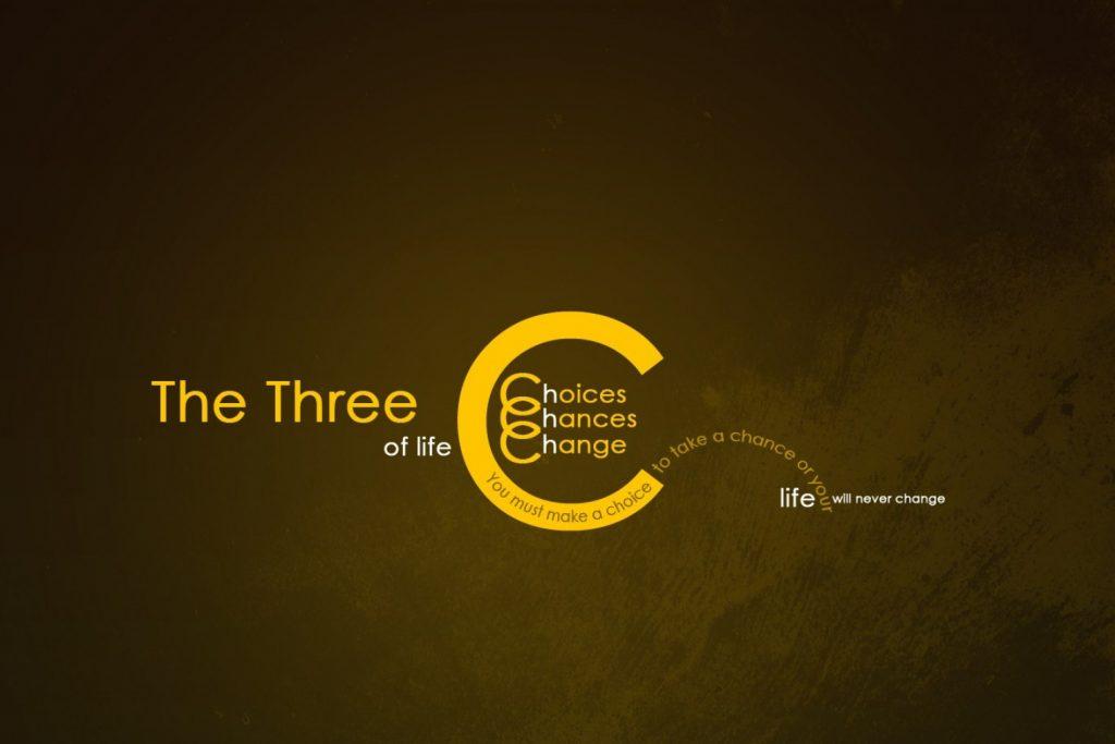 The three of life - Citatplakat