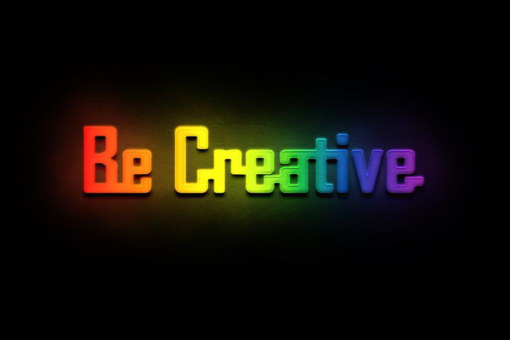 Be Creative - Citatplakat