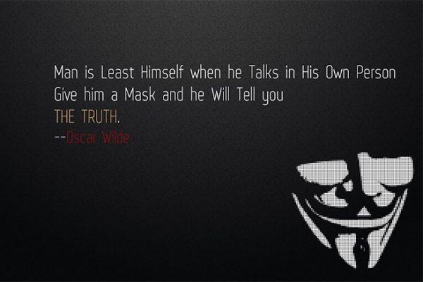 Man is least himself citatplakat