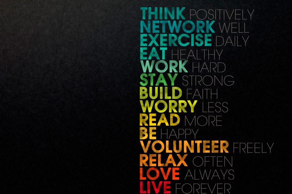 Think positively Citatplakat