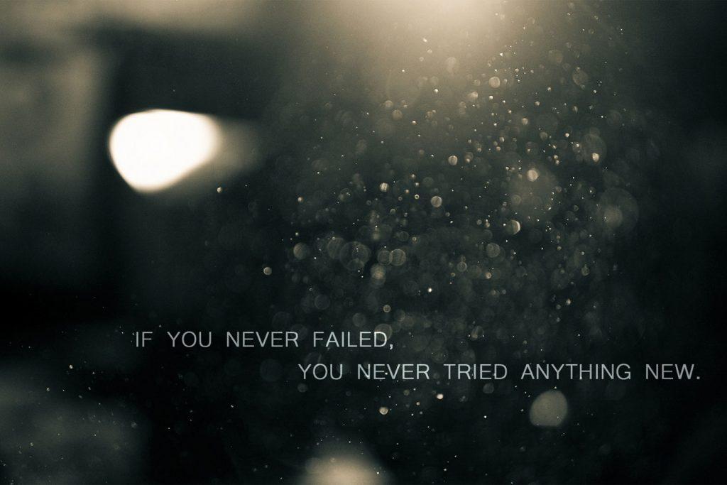If you never failed citat plakat