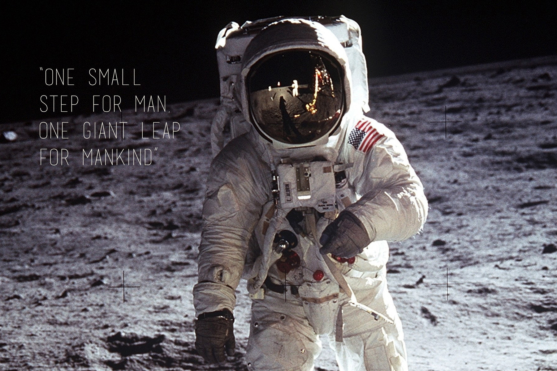 One Small Step For Man Citatplakat