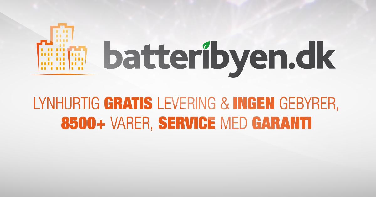Batteribyen.dk 8500+ vare, Gratis levering