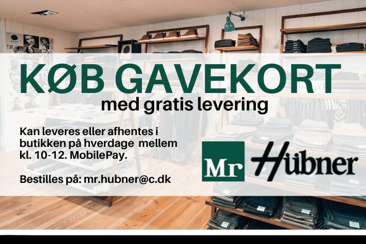 MR HÜBNER GAVEKORT GRATIS LEVERING
