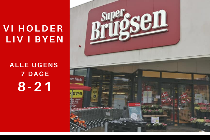 SUPER BRUGSEN VI HAR ÅBENT